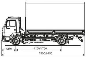 Схема КАМАЗ 4308