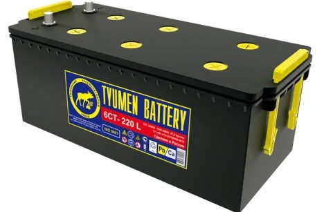 Батарея аккумуляторная АКБ-190 Тюмень, сухо-заряженная