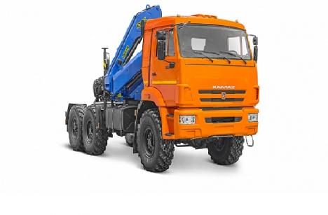 Седельный тягач КАМАЗ 43118 с КМУ PALFINGER INMAN ИМ 150N