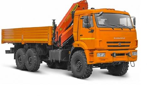 Бортовой КАМАЗ 43118 с КМУ PALFINGER PK 23500A