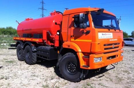 Автоцистерна нефтепромысловая АКН-10 на ш. КАМАЗ 43118