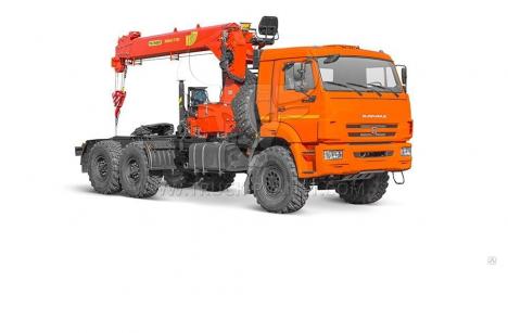 Седельный тягач КАМАЗ 43118 с КМУ PALFINGER INMAN ИТ 150