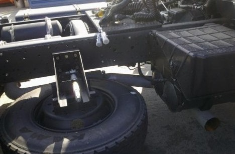 Установка выхлопа под ресивер на КАМАЗ