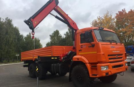Бортовой КАМАЗ 43118 с КМУ PALFINGER INMAN IM150N