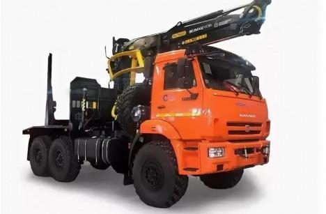 Лесовоз КАМАЗ 43118 с ГМУ VC8L74