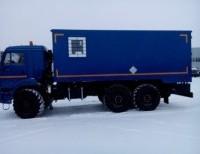 Автомобиль-фургон для перевозки взрывчатых веществ