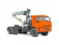 Седельный тягач КАМАЗ 43118-50 с КМУ ИНМАН ИФ-300-02