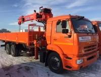 Бортовой КАМАЗ 65115 с КМУ Kanglim KS 1256G-II
