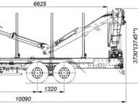 Сортиментовоз КАМАЗ 65115 с ГМУ VM10L74